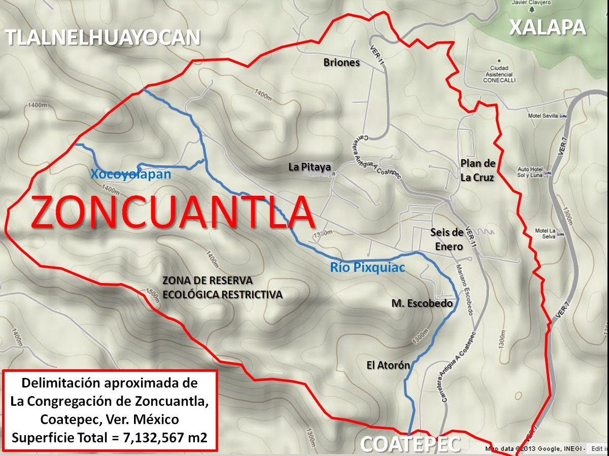 Mapa de la Congregación de Zoncuantla FINAL