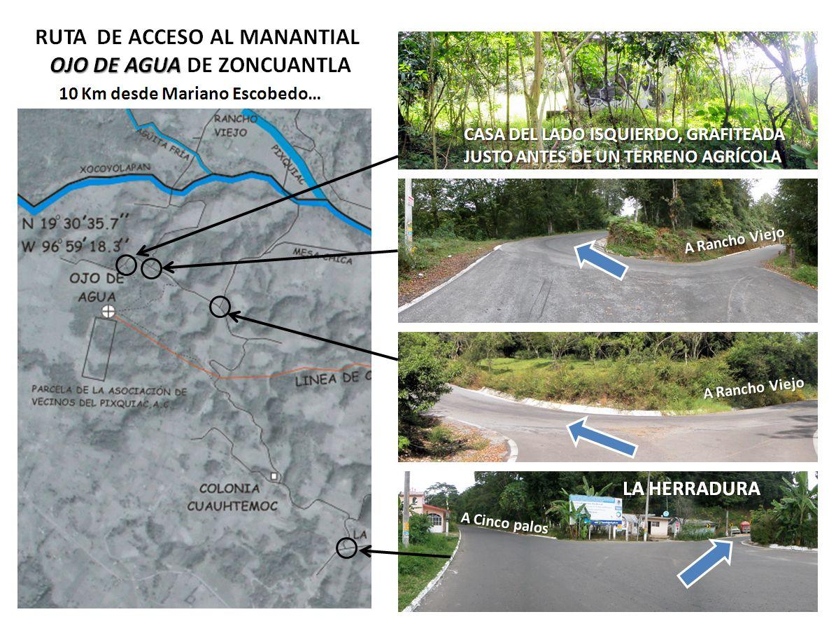 Ruta de Acceso al Manantial