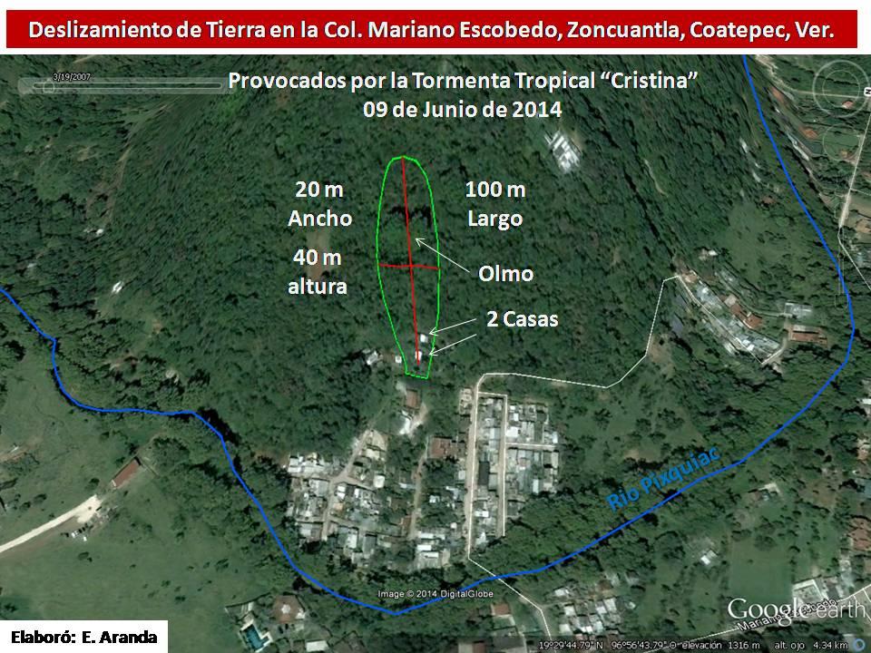 Deslizamiento Mariano Escobedo 2014