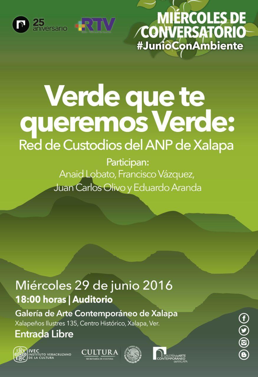 Cartel Conversatorio Verde que te queremos verde